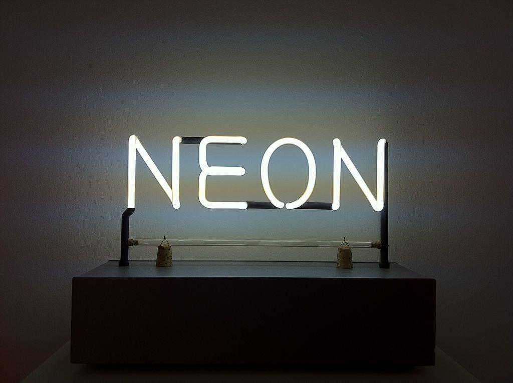 Joseph Kosuth, Neon, 1965