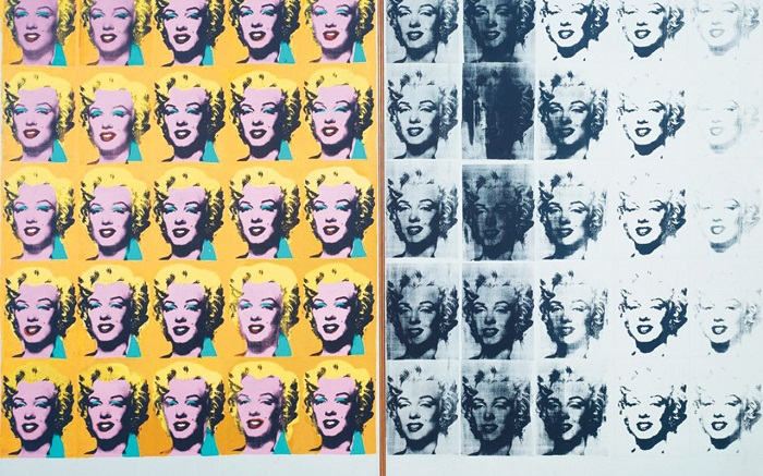 Sérigraphie d'Andy Warhol, Marilyn Diptych, 1962 (Tate Gallery)