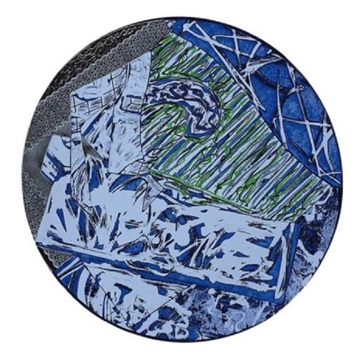 Gravure de Frank Stella, Swan Engraving Circle I, State III, 1983