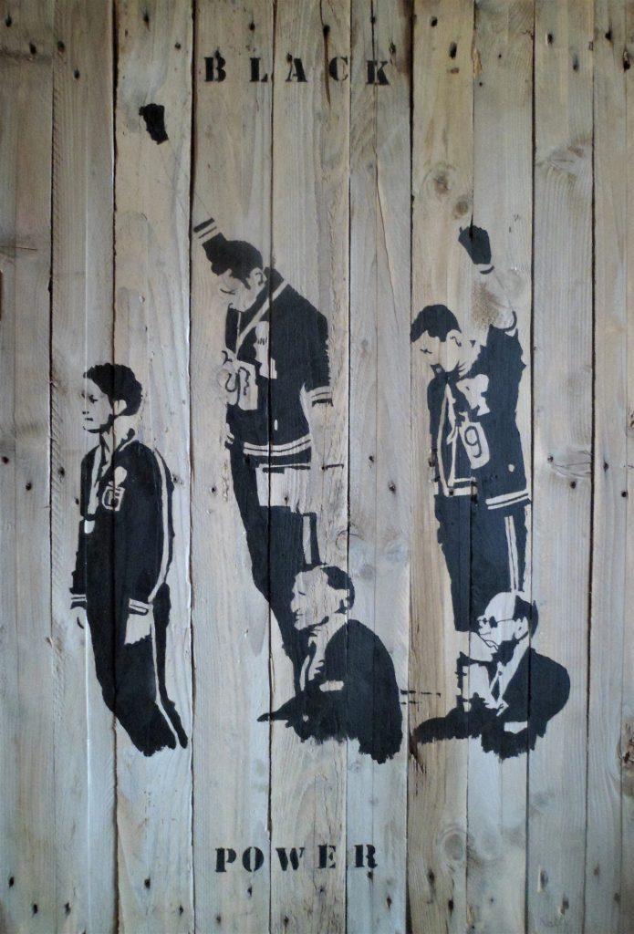Black power, Peinture acrylique sur bois, Natty