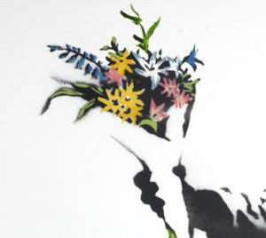 Love Is In The Air (Flower throwner) de Banksy, 2003, Jérusalem