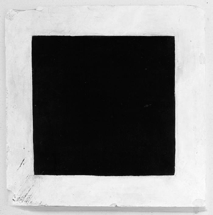 Malevitch, Carré Noir sur Fond Blanc, 1915, Galerie Tretiakov (Russie)