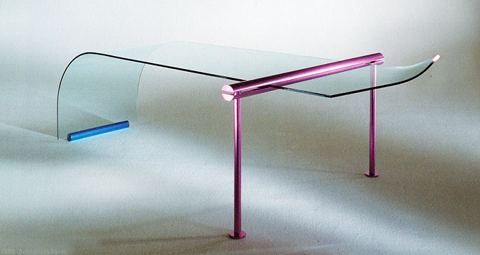 Shiro Kuramata, The Bent Glass table, 1988