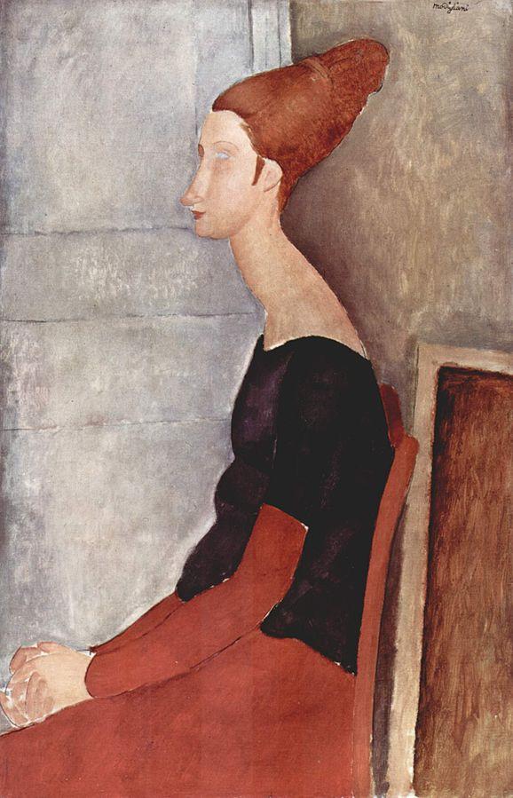 Modigliani, Portrait de Jeanne Hébuterne [assise]