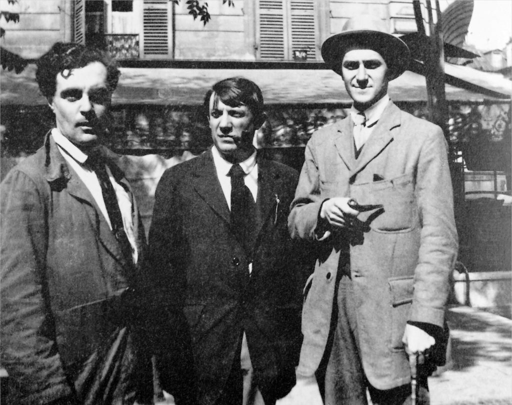 Modigliani_Picasso_and_André_Salmon