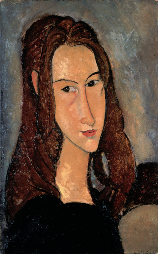 Modigliani, Portrait de Jeanne Hébuterne [tête de profil] (1918)