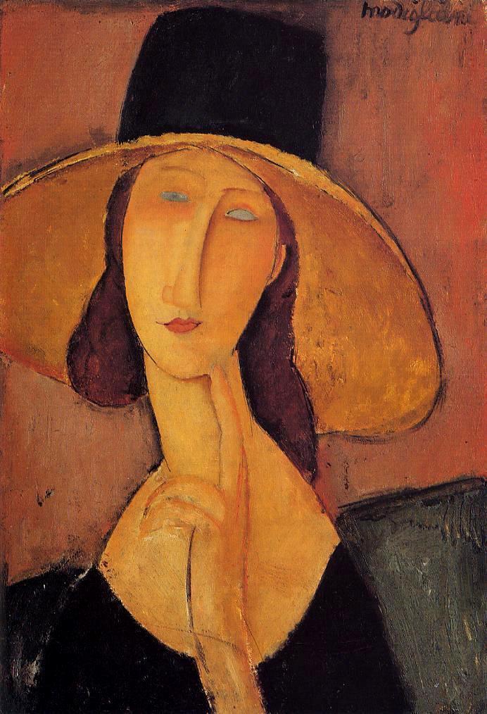 Portrait-de-Jeanne-Hebuterne-au-grand-chapeau-1917