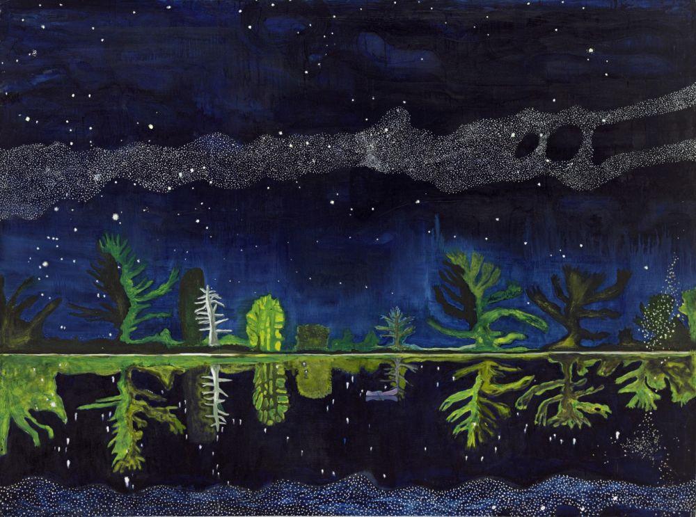 Affiche de l'exposition Peindre la nuit au Centre Pompidou-Metz