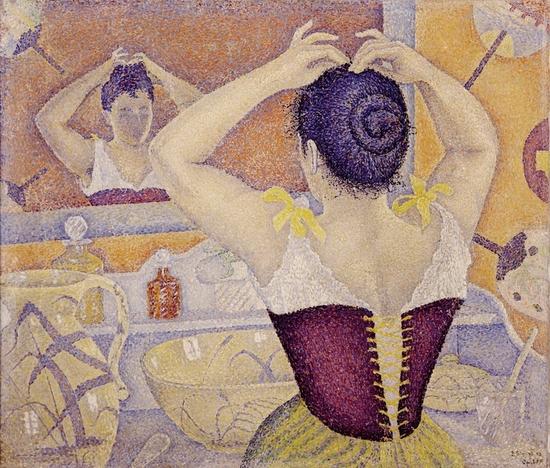 signac-femme-se-coiffant
