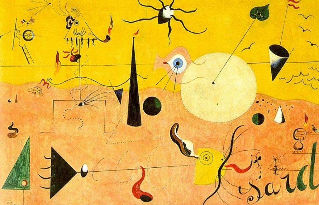 Paysage Catalan (Le chasseur) de Miró