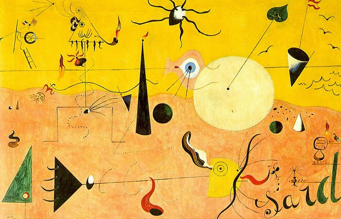 Canvassing the Masterpieces: The Hunter (Catalan Landscape) by Miró - The  KAZoART Contemporary Art Blog