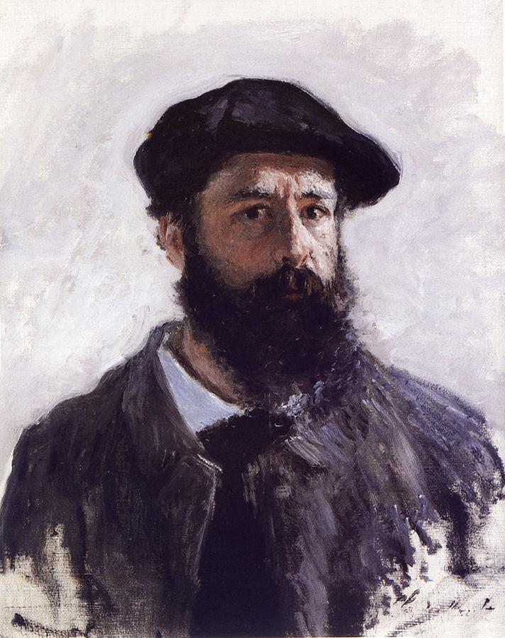 Autoportrait coiffé d'un beret_Claude_Monet