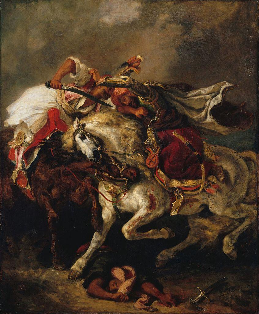 Eugène_Delacroix_Combat_du_Giaour_et_du_Pacha_1835