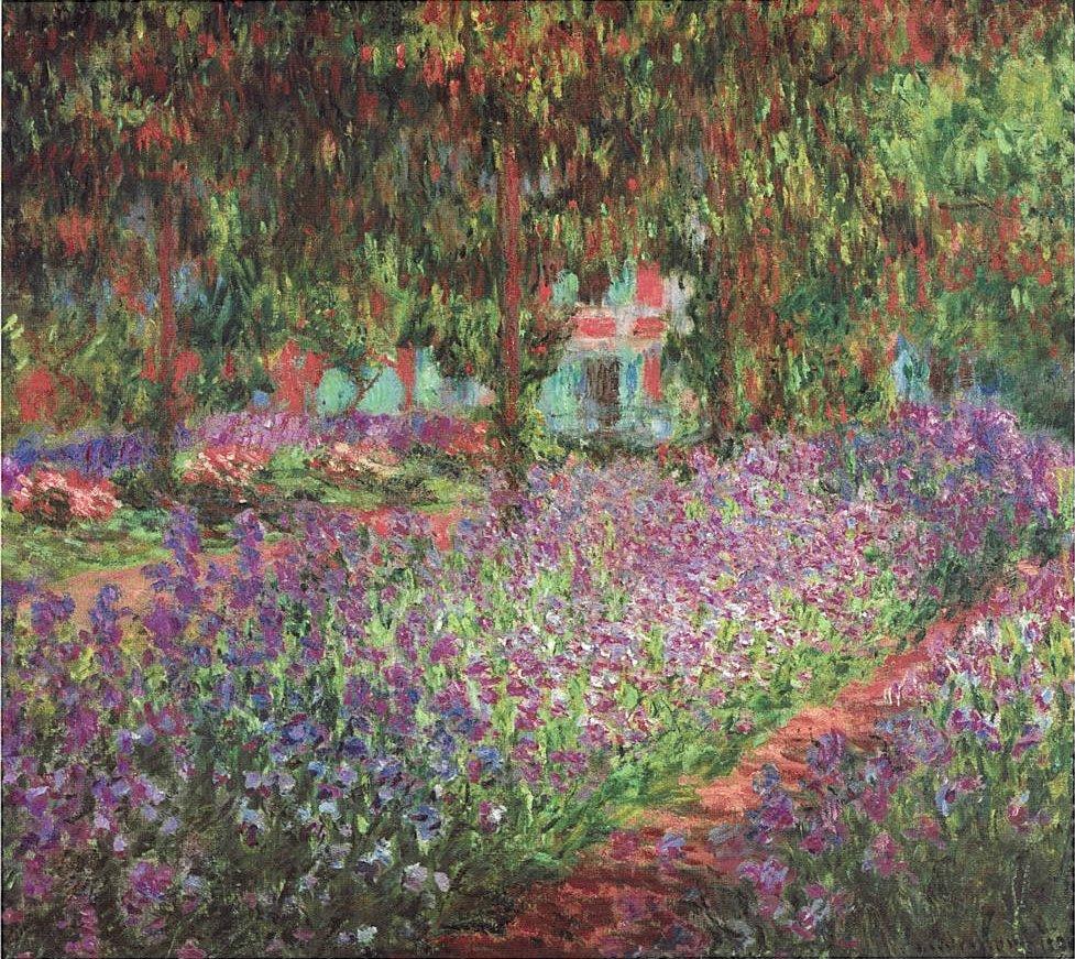 Monet_Le jardin de l'artiste à Giverny-1900