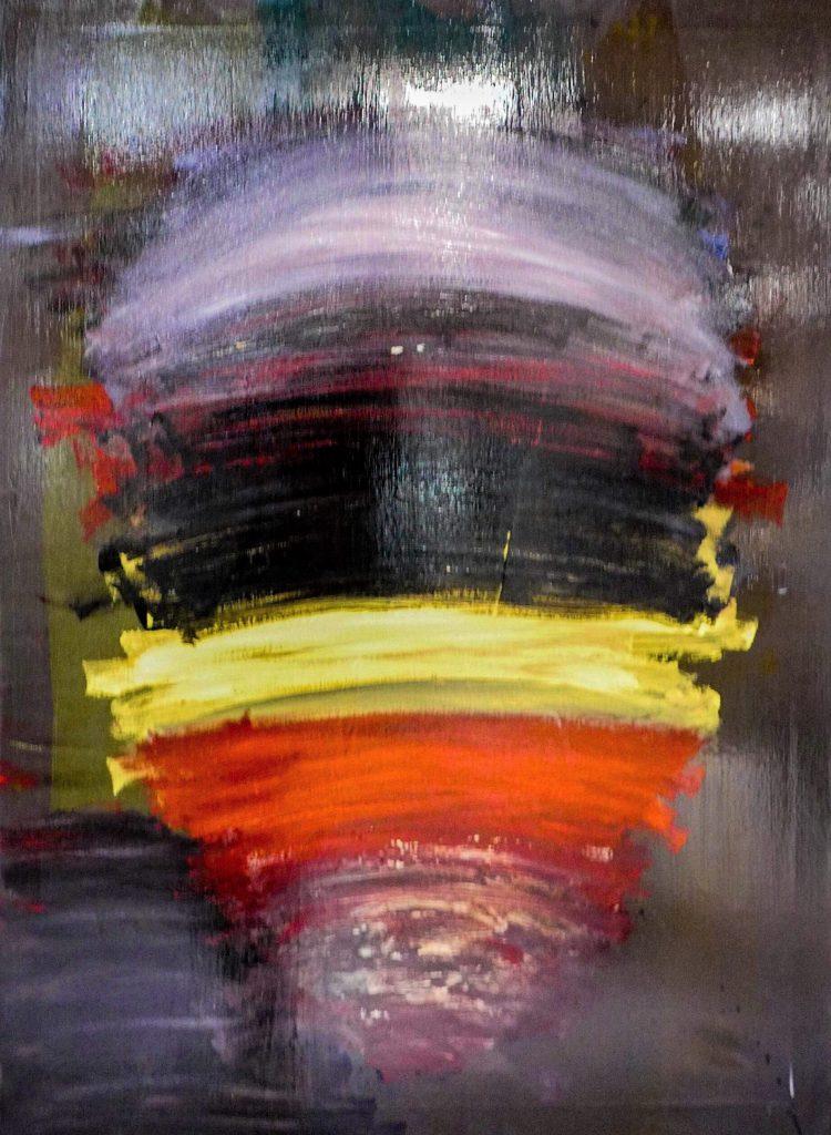 Werner Schreyer, Prometheus (acrylique sur toile)