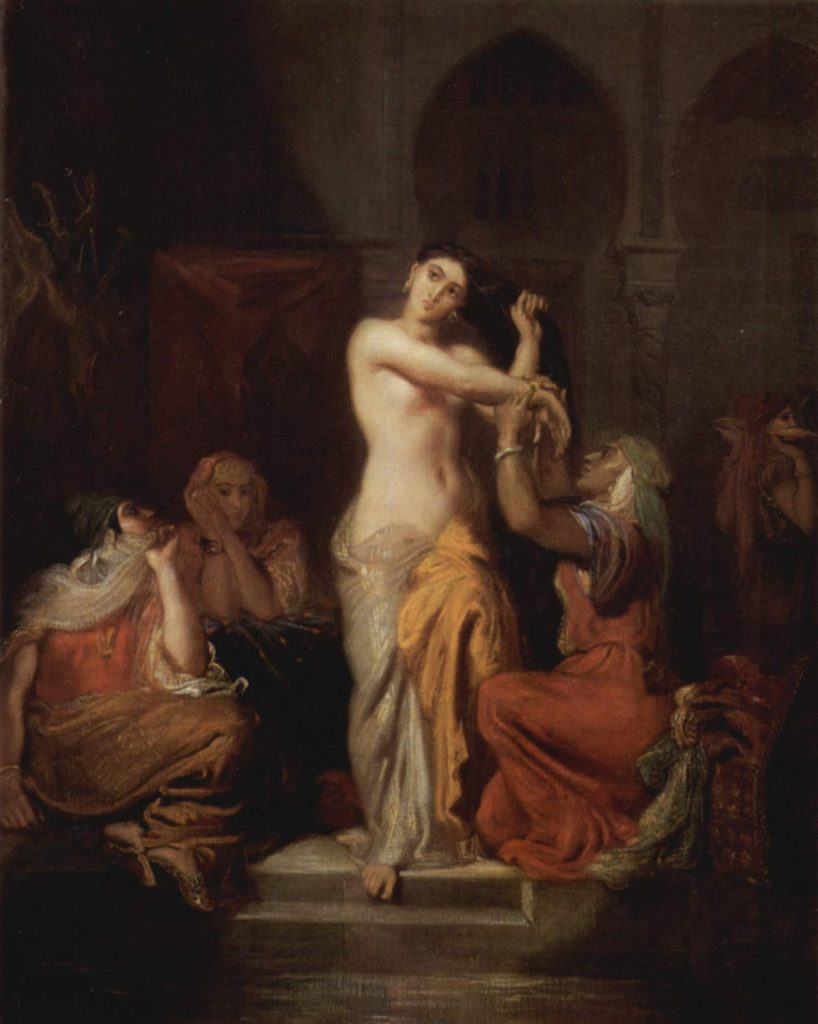 Théodore Chassériau, Intérieur de harem (huile sur toile, 1854)