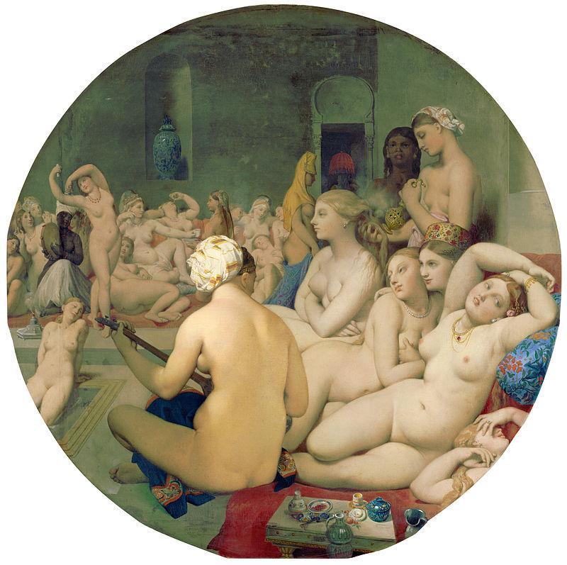 Jean-Auguste-Dominique Ingres, Le bain turc (huile sur toile, 1862)
