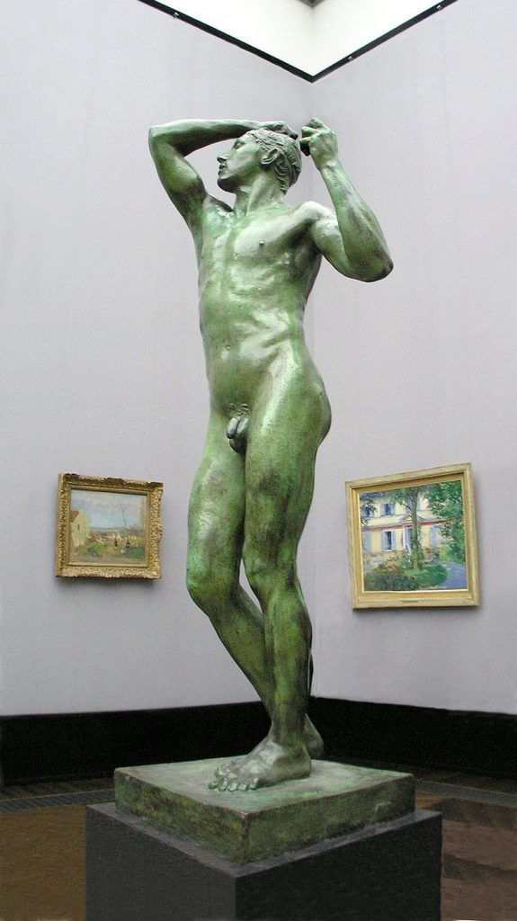 Rodin, L'Âge d'airain (1877) / By Daniel Ullrich, Threedots [CC-BY-SA-3.0 or CC BY-SA 2.0)], from Wikimedia Commons