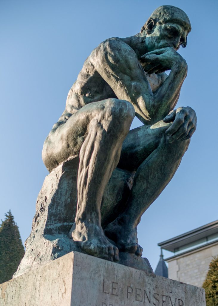 Rodin, Le Penseur (1902) / By Thibsweb [CC BY-SA 4.0  (https://creativecommons.org/licenses/by-sa/4.0) or Public domain], from Wikimedia Commons