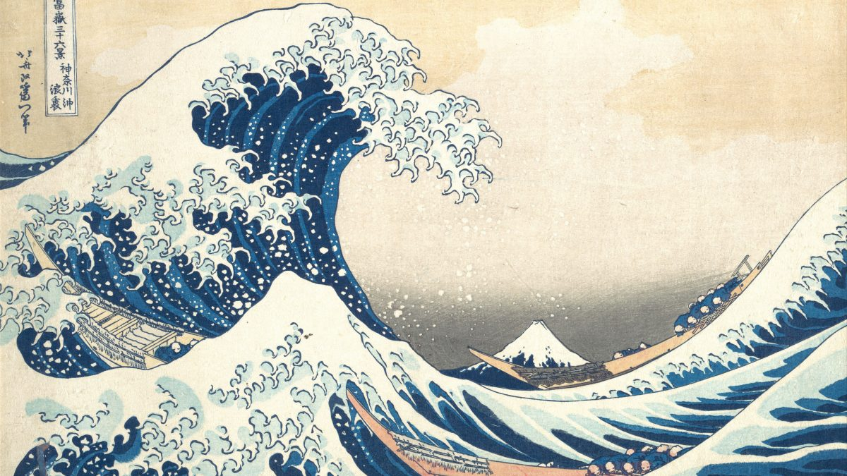 Canvassing the Masterpieces: The Great Wave Off Kanagawa by Hokusai