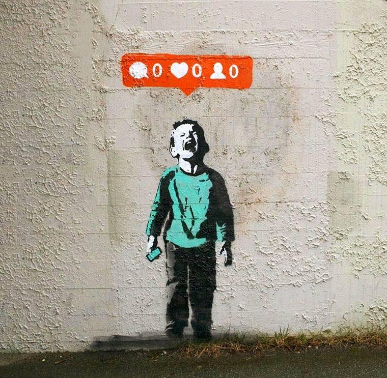iHeart Nobody Likes Me Street Art