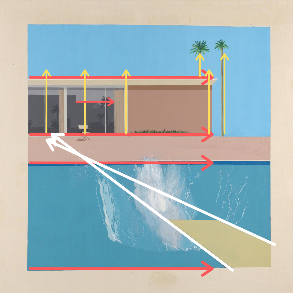 David Hockney, A Bigger Splash (acrylique sur toile, 1967)