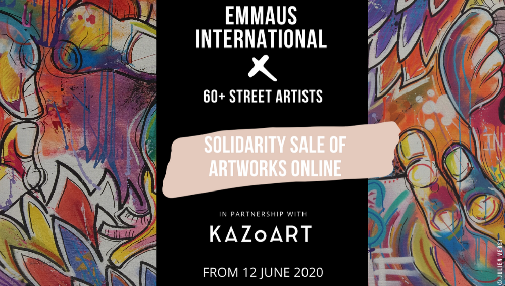 Street Art Solidarity Sale: KAZoART joins forces with Emmaus International
