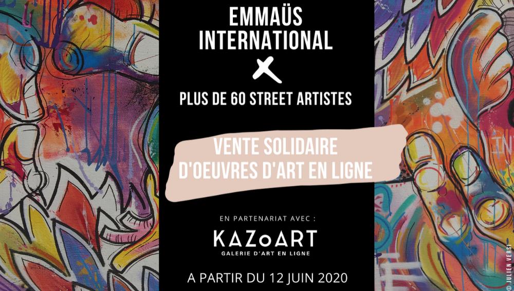 Vente solidaire de Street Art : KAZoART s'associe à Emmaüs International