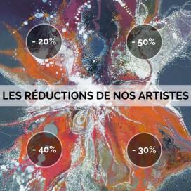 LES RÉDUCTIONS DE NOS ARTISTES : JUSQU'À -50%